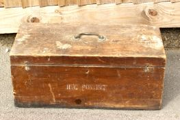 ADDITION TO DESCRIPTION Large Wooden Photographers Chest, Marked H G Ponting. Approx size
