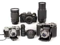 Collectors End Lot, inc Super Ikonta & Pentax SMC 30mm Lens etc. To include Zeiss Ikon Super