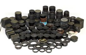 LARGE Quantity of Pentax & Takumar Lens Hoods & Cases. (the majority good or better, overall