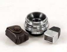Carl Zeiss Jena 3.5cm f4.5 Orthometar Lens, Contax/Nikon Rangefinder Fit. #2267766 (condition 4/