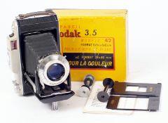 An Uncommon Kodak (France) Modele 42 Roll Film Camera. With Kodak Anast Angenieux 100mm f3.5 lens (