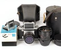 Pentacon Six TL 120 SLR Outfit. Comprising Pentacon Six with metered head (working) and CZJ Biometar