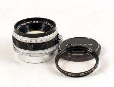 ANNOUNCE DESCRIPTION CHANGE. Canon 35mm f1.5 L39 Screw Thread Lens (NOT 50mm as originally