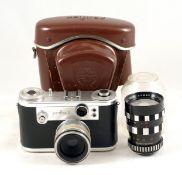 Chrome Corfield Periflex 2 35mm Camera. #4916174. Shutter needs attention and internal periscope not