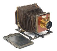 Rare W Griffiths & Co. Zodiak Field Camera. (condition 5F). Unusual design with bellows supported on