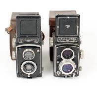 Two Rolleicord TLR Cameras. Rolleicord #191263 with Xenar 75mm f3.5 lens (slow speeds slightly