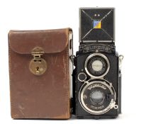 Voigtlander Superb 6x6 TLR. With Skopar 7.5cm f3.5 lens in Compur shutter. (condition 5F). (From the