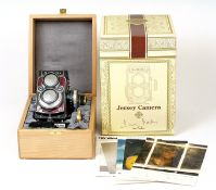 Rare Jersey Rolleiflex 2.8GX, Serial Number #J0000. (condition 3F). Fitted with Planar 80mm f2.8