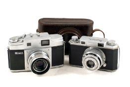 Mamyia (MIOJ) & Konica CRF Cameras. Comprising a Mamiya 35 Magazine camera with Mamiya-Sekor 5cm