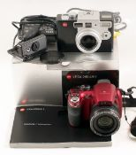 Leica Digilux 1 Digital Camera Outfit. (battery does not hold charge but OK on mains adapter,