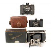 Nova & Two Other Miniature Cameras. To include Nova in case, (condition 5F) Milbro folding 'Yen'