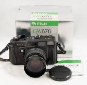 Fuji GW670III Medium Format Rangefinder Camera. #6050007 (condition 5E). With Fujinon 90mm f3.5