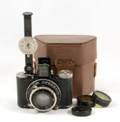 Nagel Pupille Outfit with Leitz 'N' Rangefinder. (condition 5F). With Xenon f2 4.5cm lens. Comes