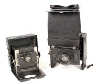 Two Folding Reflex Cameras - Amazing Examples of Folding Camera Design! An Ihagee Patent Folding