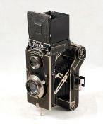 Welta Superfekta (Super Perfecta) with CZJ Tessar 10.5 cm f3.8 Lens. Slight haze. (condition 5/