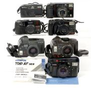 Group of Olympus & Minolta Compact Cameras. To include Trip AF and Superzoom models. (untested). (