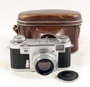 Zeiss Ikon Contax IIa with Sonnar f2 5cm Lens. (condition 4/5F) with case. (From the Bob White