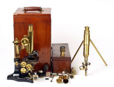 ANNOUNCE Description Change. A Pair of Good Quality Microscopes in Cases.