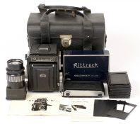 MKK Rittreck IIa Medium Format SLR Outfit. To include camera body #10087 with Musashino Luminant