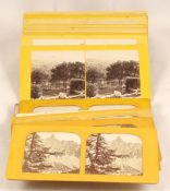 Good Group of Stereo Views & Tissue Type Cards. Comprising approx 15 Welsh views, 9 Swiss views (