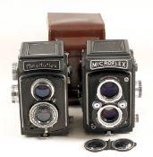 Minolta & MPP 120 TLR Cameras. Comprising a Minoltaflex (IIb) with Rokkor 75mm f3.5 lens (magnifying