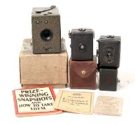 Kodak 00 Cartridge Premo & Other Small Box Cameras. To include two Zeiss Ikon Baby Box Tengors,