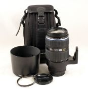 Olympus Zuiko Digital ED 50-200mm f2.8-3.5 SWD Four Thirds Zoom Lens. (condition 4E). With hood
