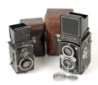 ADDITIONAL ITEM ADDED. Rolleiflex 4x4 with Tessar 6cm f2.8 (condition 6F) WITH BOX (not pictured)