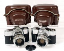 Voigtlander Ultramatic & Ultramatic CS 35mm Cameras with Septon 50mm f2 Lenses. Ultramatic condition