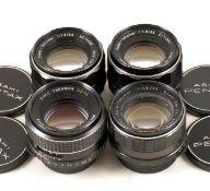 Four Pentax M42 Screw Mount Standard Lenses. Comprising 2x Super Takumar 55mm f1.8; SMC Takumar 55mm