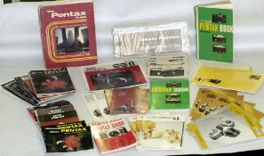 Quantity of Pentax Screw Mount Camera Instruction Books & Manuals. Many M42 models covered. (Cabinet