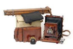 Thornton Pickard Focal Plane Imperial Field Camera. (focal plane blinds partly missing/detached,