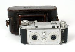 Richard F40 35mm Stereo Camera. (condition 5/6F). Berthiot Flor 40mm f3.5 lenses, with ERC. (From