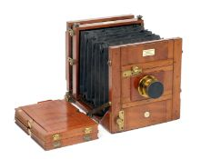 E & T Underwood, Birmingham, Instanto Half Plate Field Camera. (condition 5F) with Cooke Series