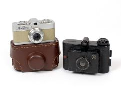 Two European Sub-Miniature Cameras. A Meopta Mikroma II (not firing condition 5H) with case. Also an