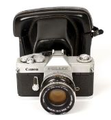 Canon Pellix Camera with FL 50mm f1.4 Lens. (condition 4/5F) With ERC. (From the Bob White