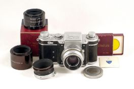 Rectaflex 35mm SLR #25112 B. (some wear, hence condition 5/6F) with Xenon 50mm f2 (slight cleaning