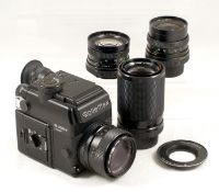 Rolleiflex SL 2000F 35mm SLR Outfit. To include camera body (not firing) with Planar f1.8 50mm,