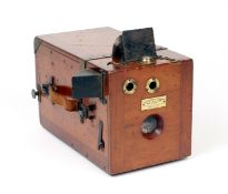 Uncommon Belgian Made Falling Plate Detective Camera. Circa mid to late 1890s. Marked Eugene