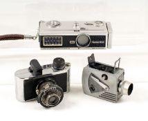 Uncommon Bolta-Werk Boltavit Miniature Camera. (condition 5/6F). Also Rollei 16 and Minute miniature