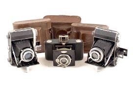 Group of Three Uncommon Minolta Cameras. Comprising Semi Minolta II (blades slow hence condition