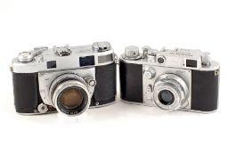 Minolta 35 & Super A CRF Cameras. Minolta 35 Model F with Super Rokkor 45mm f2.8 lens (condition