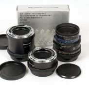 Mamiya RZ67 140mm f4.5 Macro Lens #12086. (condition 4F). Also extension tubes 1 & 2 and a No1