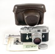 Chrome Leica M3 Double-Stroke Body #902902 with Summicron 50mm f2 Lens. #2096281. (both condition