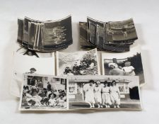 A Rare Collection of 'Walkies' Photographs. To include five seaside photos enlarged to Post Card