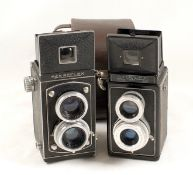 Rare French Atoms Rex Twin Lens Reflex Camera. The first TLR camera to have lens