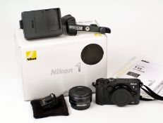 Nikon 1 V3 Compact Digital Camera Outfit. Comprising Nikon 1 body with VR 10-30mm PD zoom (condition