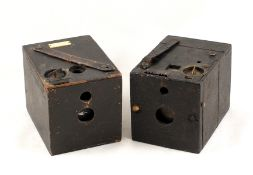 Two Early, Rare Box Cameras. Comprising a Blair Hawk-Eye Junior camera (condition 5/6F). Camera