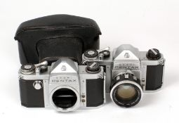 Pentax K Camera and Lens. Comprising Pentax K body #1668773 with correct 55mm f1.8 Auto-Takumar lens
