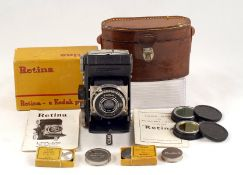 Kodak Retina 1, Type 017 (The First Model). (condition 4F). With filters, instructions etc, in
